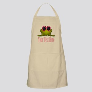 Frog in Pink Sunglasses Custom Apron